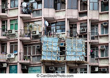 Hongkong apartment seen better days