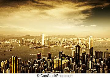 hongkong - Hong Kong skyline at night