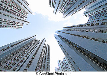 hongkong, hus, packat, publik