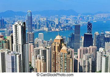 hongkong, luftblick