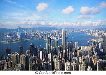 hongkong, skyline, spitze, victoria