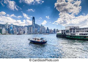 hongkong, victoria hafen