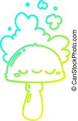 hongo, gradiente, línea, spoor, caricatura, frío, dibujo, ...