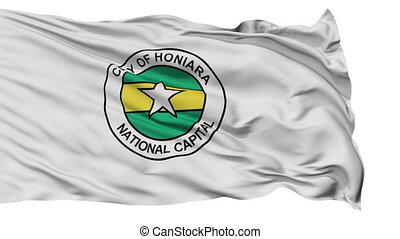 Honiara City Isolated Waving Flag