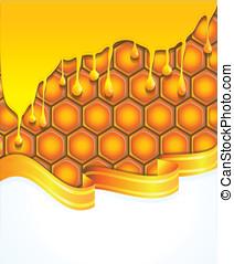 honing, helder, achtergrond