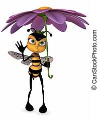 honing, toon, bij