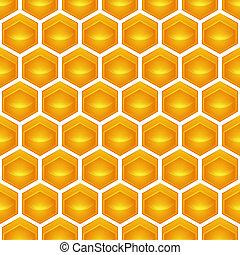 honingraat, illustratie, bevat, een, doorzichtigheid,...