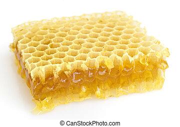 honingraat, vrijstaand, witte