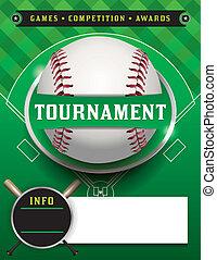 honkbal, mal, toernooi, illustratie