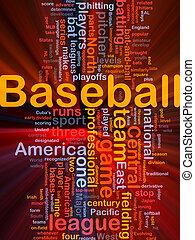 honkbal, sporten, achtergrond, concept, gloeiend