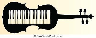Honkeytonk Fiddle - A piano keybboard set into a violin...