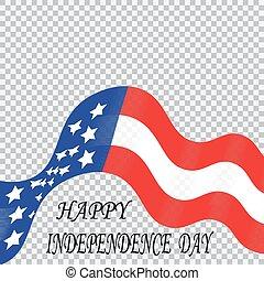 honneur, indépendance, bande, couleurs, national, stylisé, ...