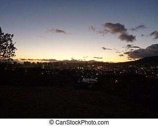 Honolulu Cityscape at Dusk