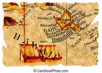 Honolulu old map