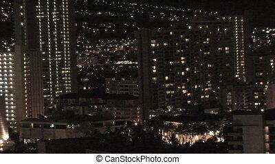 Honolulu Skyline at night