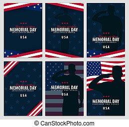 honor., 記念, 思い出しなさい, flag., day., アメリカ人, usa.