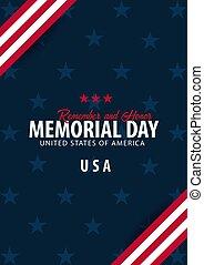 honor., commemorativo, ricordare, flag., day., americano, ...