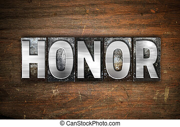 Honor Concept Metal Letterpress Type