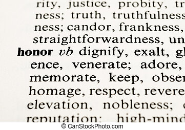 "Honor - Dictionary word ""honor"""