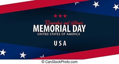 honor., memorial, lembrar, flag., day., americano, usa.
