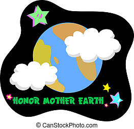 Honor Mother Earth Vector