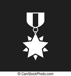 Honour medal vector icon
