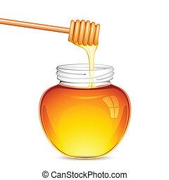 honung, frisk