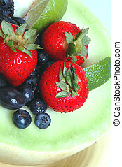 honungsdagg, med, frukt