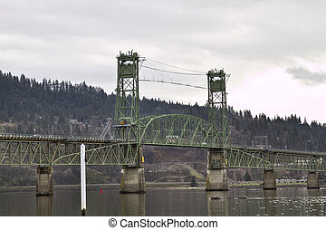 Hood River Bridge Over Columbia River Gorge