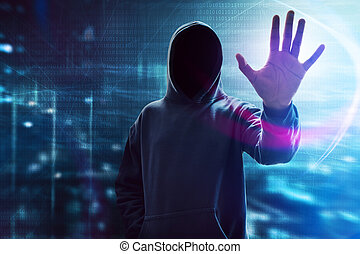 hooded, hacker computador