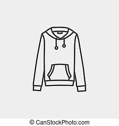 Hooded sweater - This is a vector illustration of Hooded...