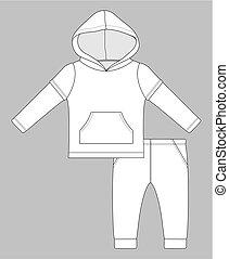 hoodie baby set double sleeve...