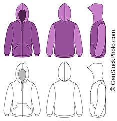 hoodie, contorno, ilustración