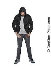 hoodie, człowiek
