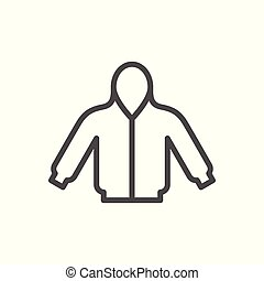 Hoodie line icon isolated on white. Vector illustration