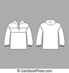 Hoodie man template (front, back views)