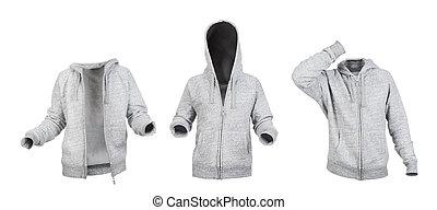 hoodies, elszigetelt, frontside, háttér, tiszta, fehér