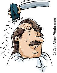 hoofd, het scheren