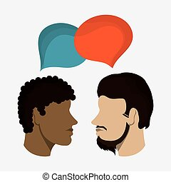 hoofd, man, ontwerp, mensen
