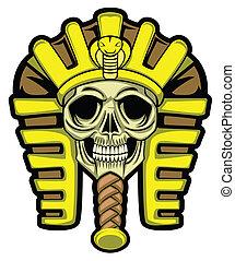 hoofd, sphinx, schedel