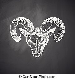 hoofd van, de, ram, pictogram