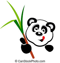 hoofd, vector, panda