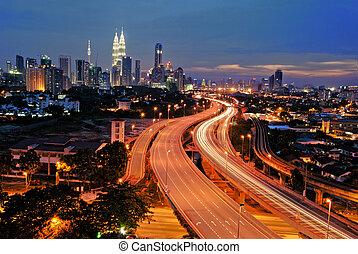 hoofdstad, kuala lumpur, malaysia., stad