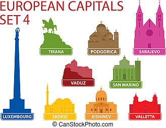 hoofdsteden, europeaan