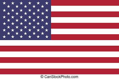 hoog, amerikaan, resolutie, vlag