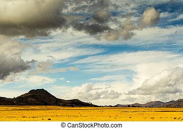 hoog, andes, hoogte, landscape