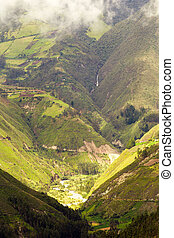 hoog, ecuadoriaans, hoogte, andes