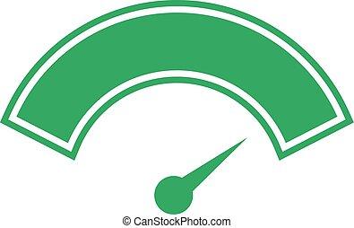 hoog, energie, pictogram