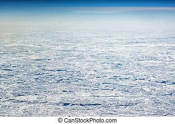 hoog, gezien, hoogte, bladen, ijs