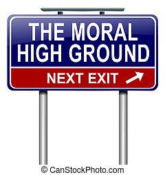 hoog, ground., moraal